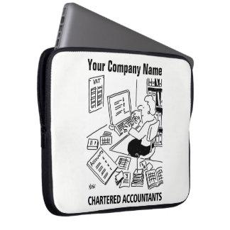 Chartered Accountants Cartoon Lap Top Sleeve