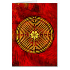 Chartres Labyrinth Fire Greeting Card
