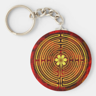Chartres Labyrinth Fire Keychain