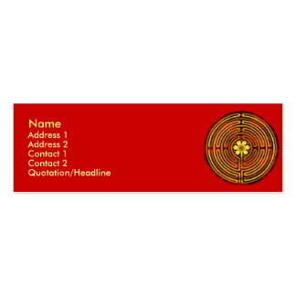Chartres Labyrinth Fire Profile Cards Pack Of Skinny Business Cards
