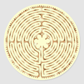 Chartres Labyrinth Pearl Sticker