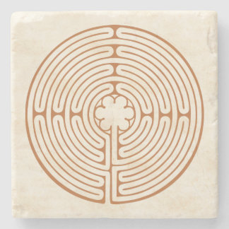 Chartres Labyrinth Stone Coaster