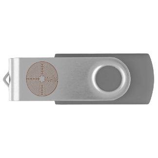 Chartres Labyrinth Swivel USB 2.0 Flash Drive