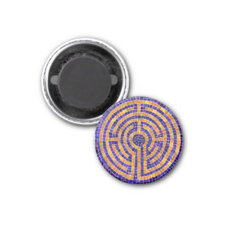 """Chartres Mosaic 1.25"""" Round Magnet"""