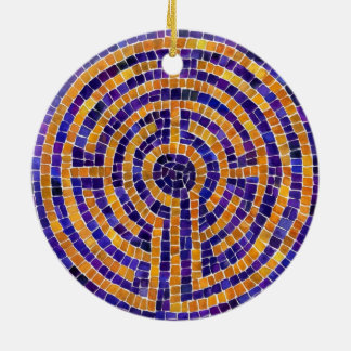 Chartres Mosaic Circle Ornament (2 sided)