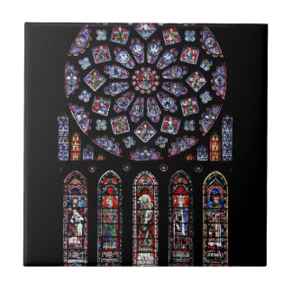 CHARTRES VI STAINED GLASS CERAMIC TILE