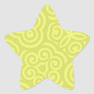 Chartreuse abstract pattern. star sticker