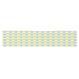 Chartreuse and Aqua leaves table runner