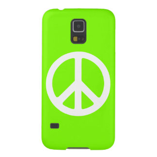 Chartreuse and White Peace Sign Galaxy S5 Cover