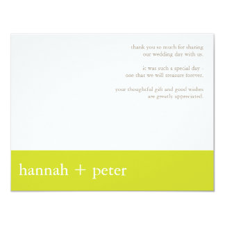 Chartreuse Banner :: Thank You Card Custom Announcement