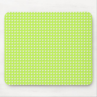 Chartreuse Bright Lime Green Pattern - Diamonds Mouse Pads