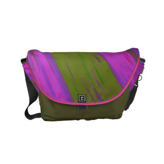 Chartreuse green purple pink Swish Abstract Courier Bags