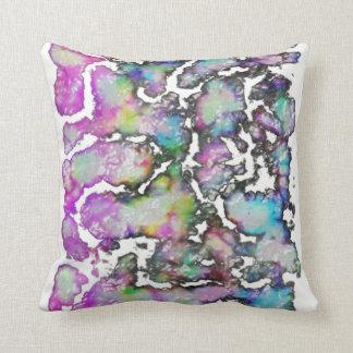 chartreuse inkblot cushion