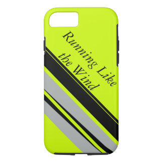 Chartreuse Lime Black Sporty Running Runners iPhone 7 Case