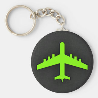 Chartreuse, Neon Green Airplane Key Chain