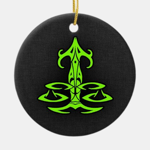Chartreuse, Neon Green Libra Ornaments