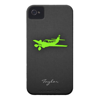 Chartreuse, Neon Green Plane iPhone 4 Covers