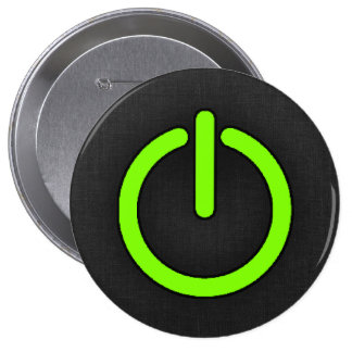 Chartreuse Neon Green Power Button