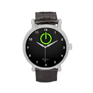 Chartreuse, Neon Green Power Button Wristwatch