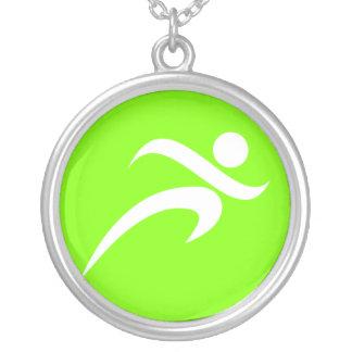 Chartreuse Neon Green Running Custom Jewelry
