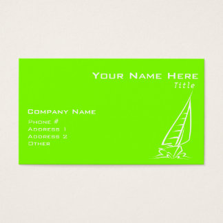 Chartreuse, Neon Green Sailing Business Card