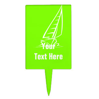 Chartreuse, Neon Green Sailing Cake Pick
