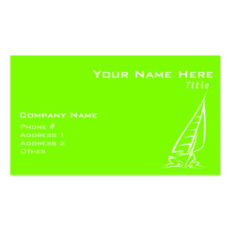 Chartreuse, Neon Green Sailing Pack Of Standard Business Cards