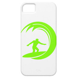 Chartreuse, Neon Green Surfing iPhone 5 Covers