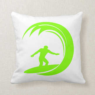 Chartreuse, Neon Green Surfing Cushion