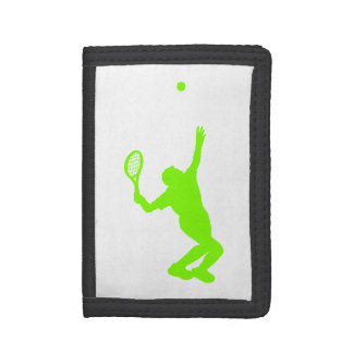 Chartreuse, Neon Green Tennis Tri-fold Wallets