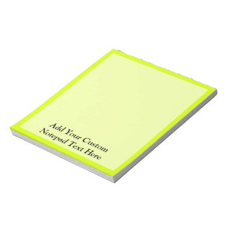 Chartreuse Notepad