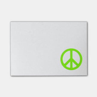 Chartreuse Peace Symbol Post-it® Notes