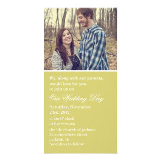 Chartreuse Photo Cards Wedding Invites