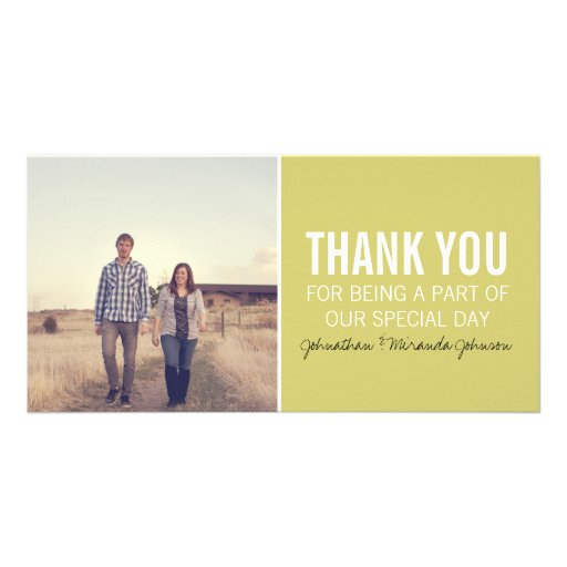 Chartreuse Photo Thank You Cards Photo Card Template
