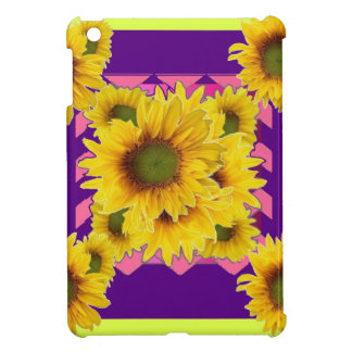Chartreuse-Purple Floral Sunflower GIFTS iPad Mini Cover