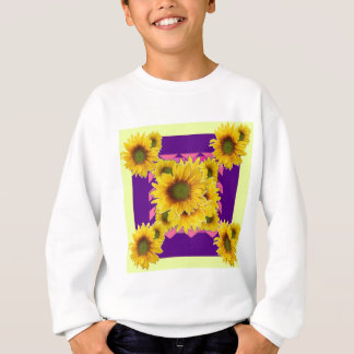 Chartreuse-Purple Floral Sunflower GIFTS Sweatshirt