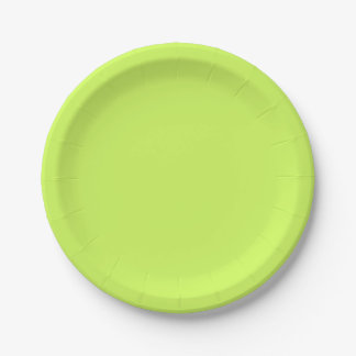 Chartreuse Solid Color 7 Inch Paper Plate