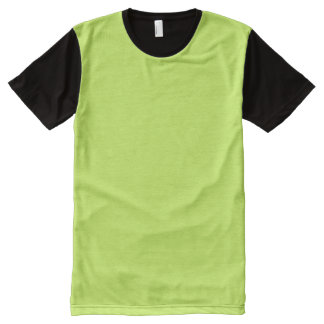 Chartreuse Solid Color All-Over Print T-Shirt