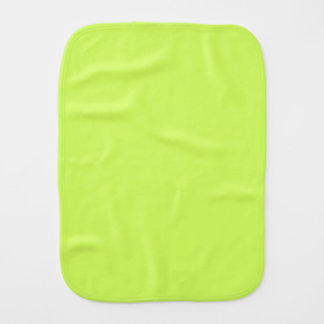 Chartreuse Solid Color Baby Burp Cloths