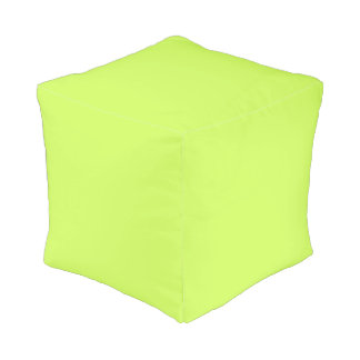 Chartreuse Solid Color Cube Pouffe