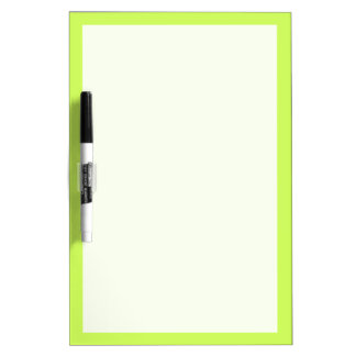 Chartreuse Solid Color Dry Erase Whiteboards