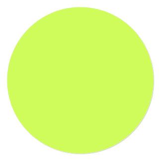 Chartreuse Solid Color 5.25x5.25 Square Paper Invitation Card
