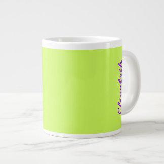 Chartreuse Solid Color Jumbo Mug