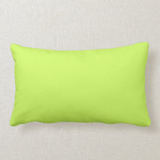 Chartreuse Solid Color Lumbar Pillow