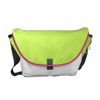 Chartreuse Solid Color Messenger Bags