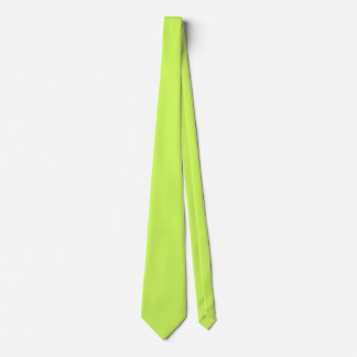 Chartreuse Solid Color Tie