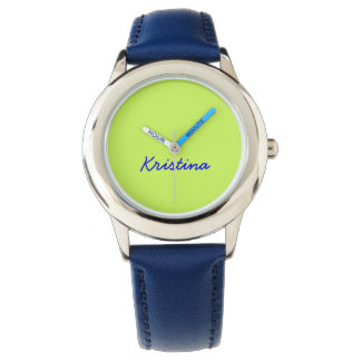 Chartreuse Solid Color Wristwatch
