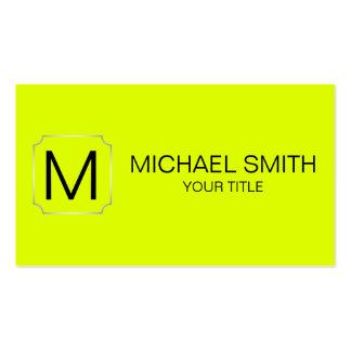 Chartreuse (traditional) color background Double-Sided standard business cards (Pack of 100)