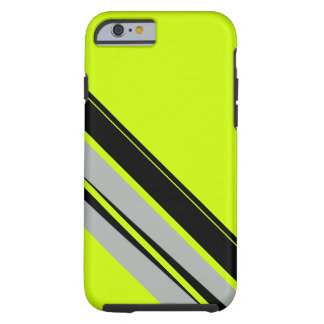 Chartreuse Yellow Lime Black Sporty CricketDiane Tough iPhone 6 Case
