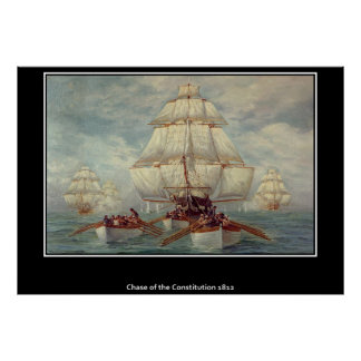 Chase of the Constitution 1813 Poster